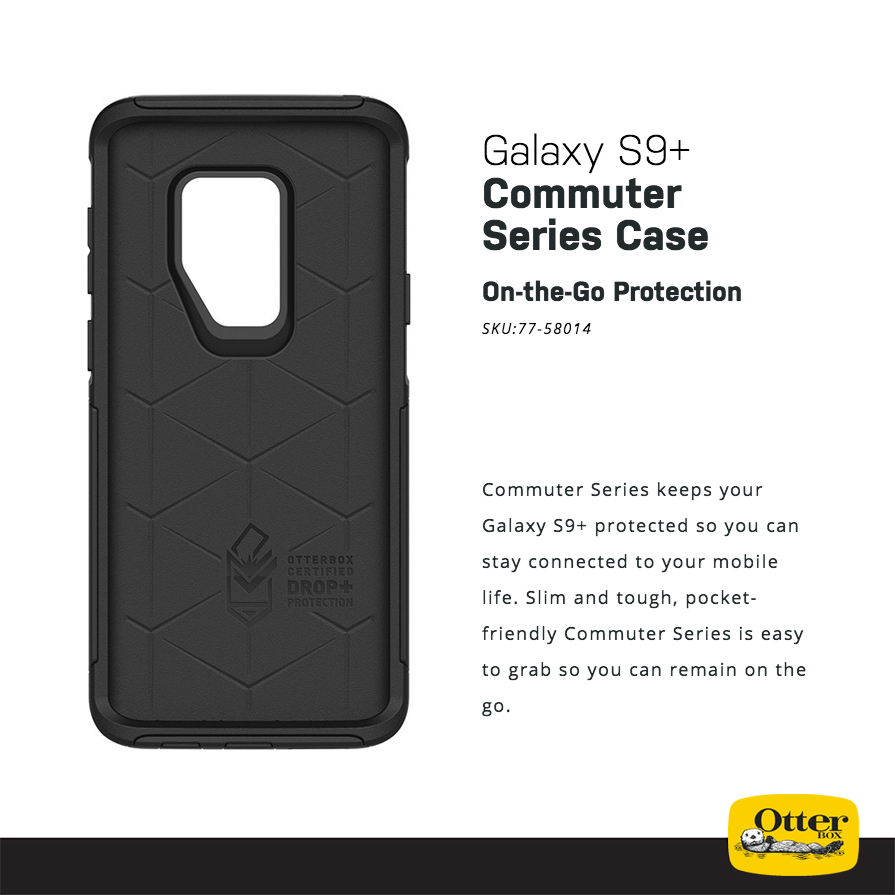 online store 6051d 6dfd5 OtterBox Commuter Case for Samsung Galaxy S9+ (Black)